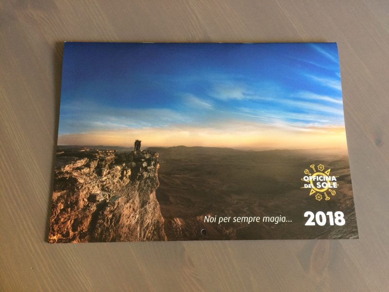 copertina calendario 2018 officina del sole fan club the sun rock music band