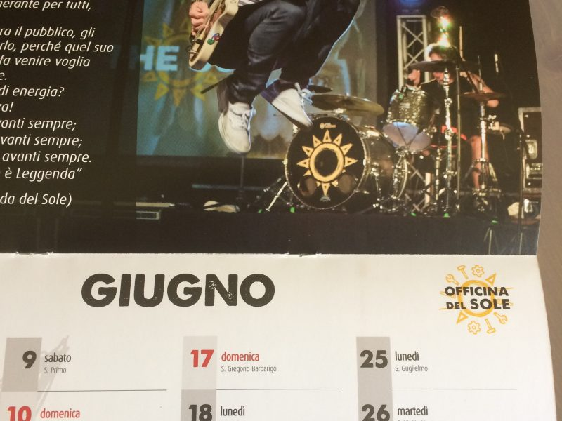 calendario 2018 anteprima di giugno officina del sole fan club the sun rock music band