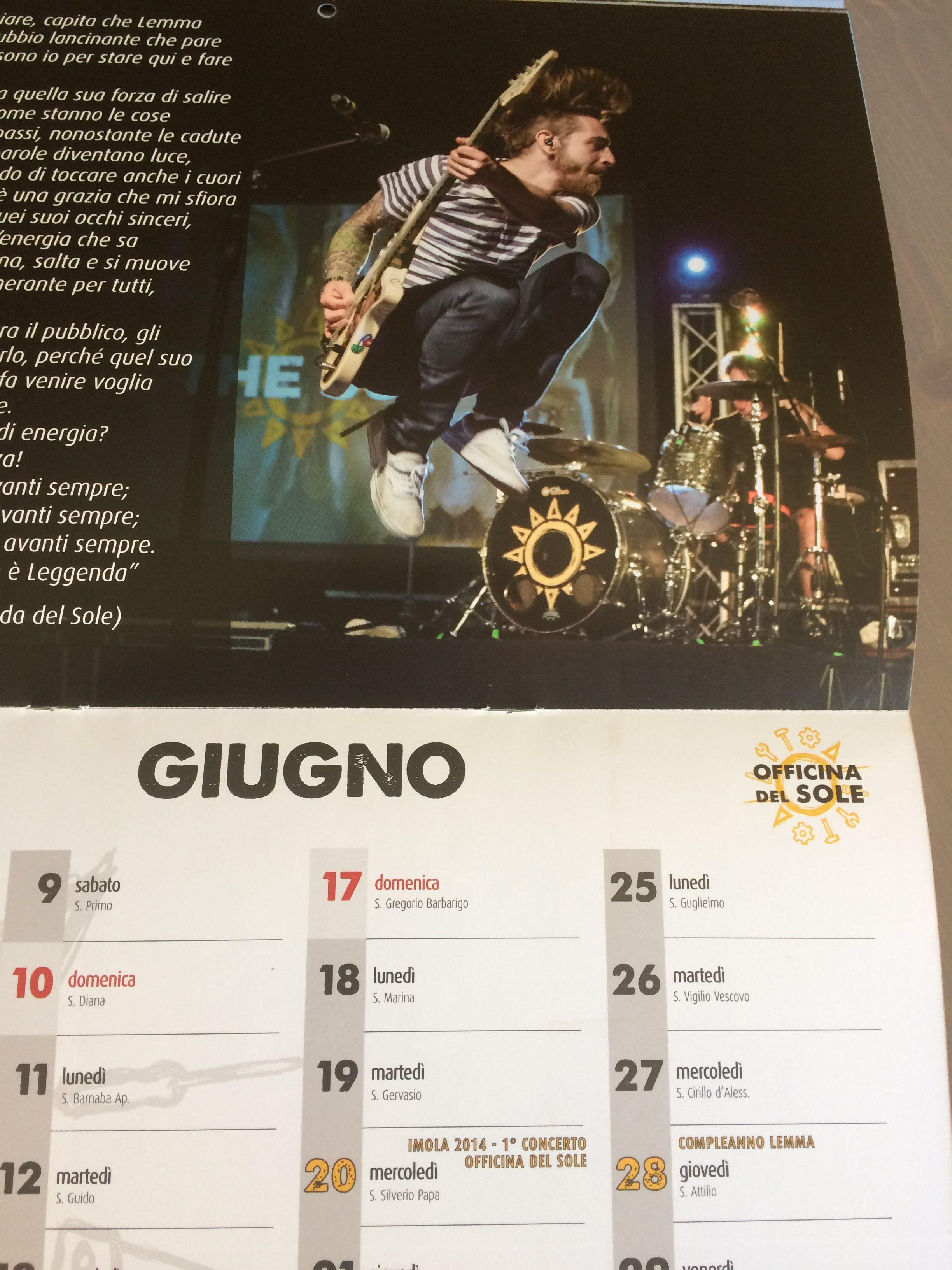 calendario 2018 anteprima di giugno officina del sole fan club the sun rock music band