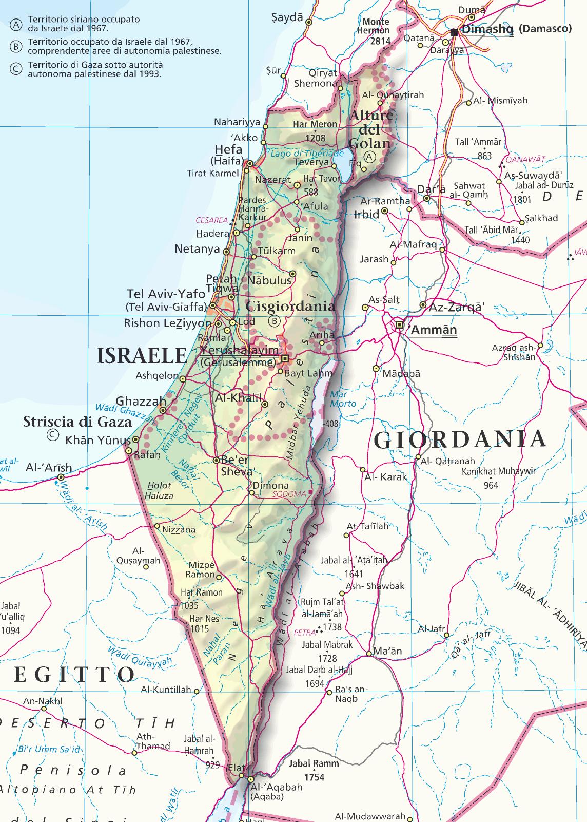 Cartina Fisica Palestina.Conoscere Per Capire La Terra Santa Oggi Officina Del Sole